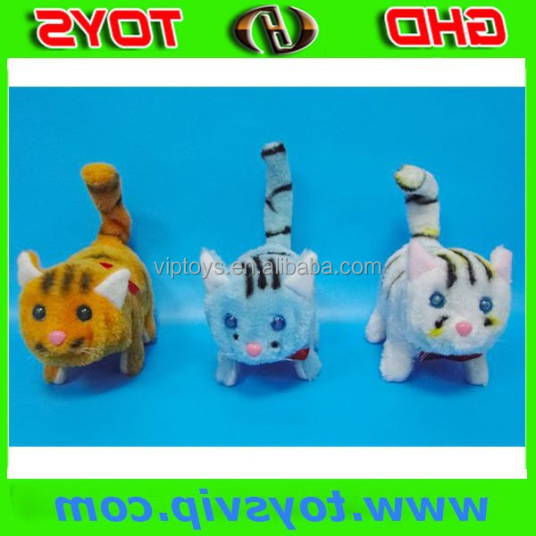 cute toy electric battery operated cat moving toy cat walking plush cat toy