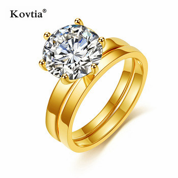 New Design CZ Zirconia Jewelry Combo Gold Ring For Women Wedding