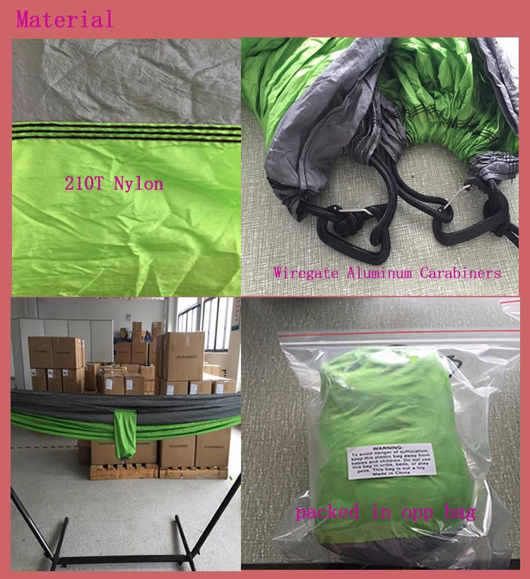Camping Hammock - Xl Double Parachute Camping Hammock (2 Tree Straps 16  Loops/10 Ft Included) Lightweight Nylon Portable Hammock - Buy Camping