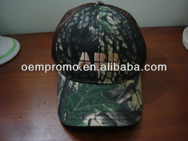 Custom Embroidered Baseball Forest High Quality Camo Caps