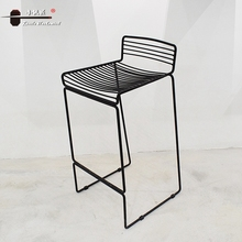 Modern Industrial Design Leisure Coffee Bar Metal High Chair For Relax