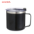Insulated Coffee Travel Mug with Lid and Handle, 14 oz Stainless Steel Metal Coffee Cup, Double Wall Vacuum Insulated Tumbler