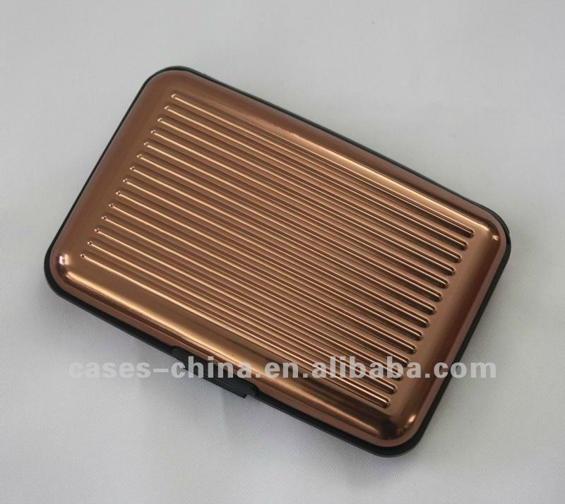 2012 hot sell waterproof aluminium credit card case/holder