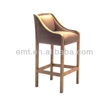 High end wooden bar chair wooden bar stool with armrest for High end bar stools