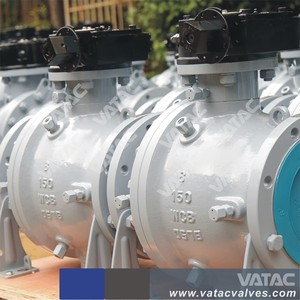 Cast Steel Flange Type 2PC / 3PC Trunnion Mounted Ball Valve
