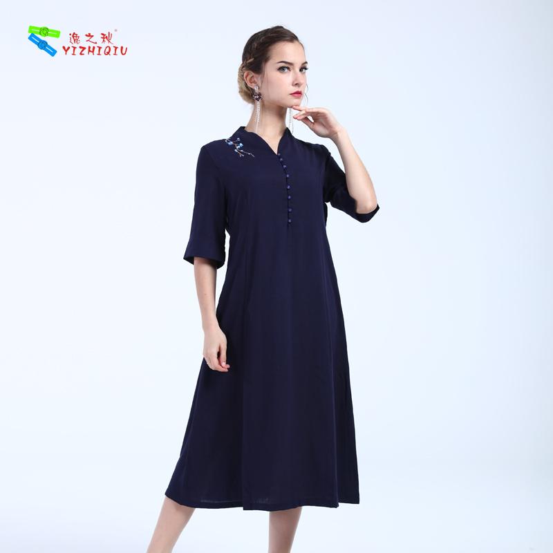YIZHIQIU spring 100% Cotton dress women casual