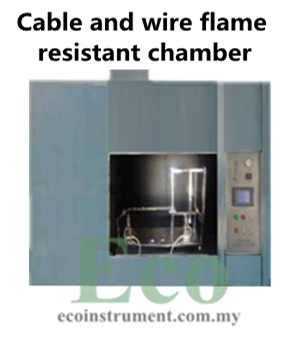 Cable and wire flame resistant chamber