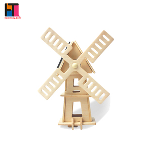 Hot Children Paper DIY Toy Solar Energy Solar Power Toy Windmills for Kids