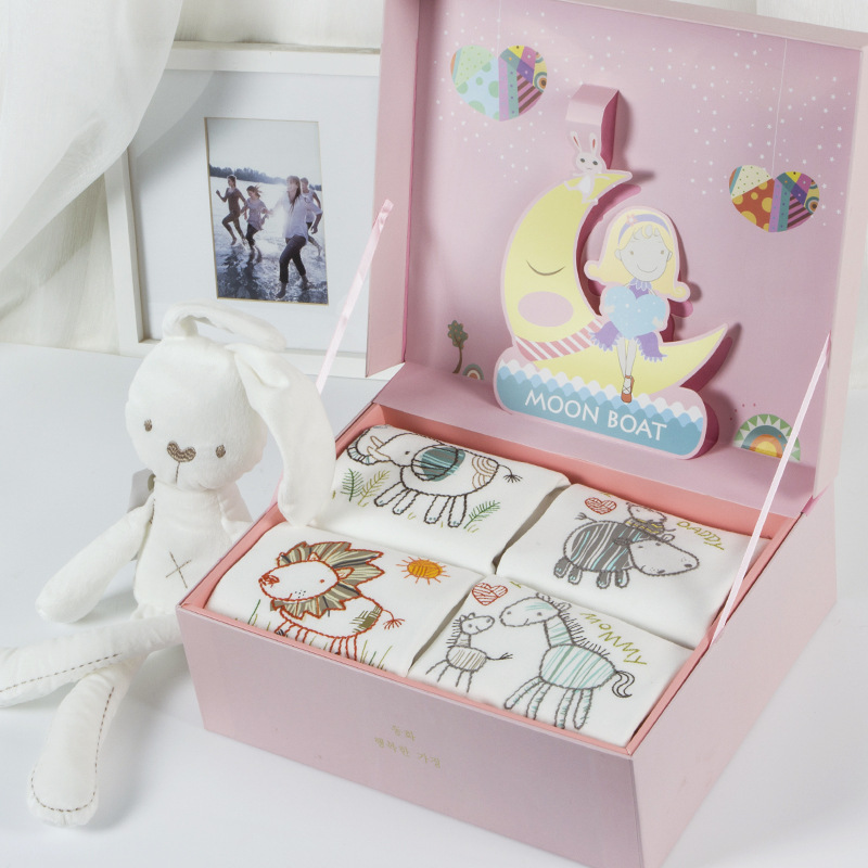 L0014 Newborn Baby Gift Box Set Spring Cotton Clothes Accessories Baby Gift фото