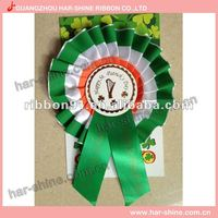 Hot Sale various colorful ribbon rosettes award/decoration metal rosette for party or competition