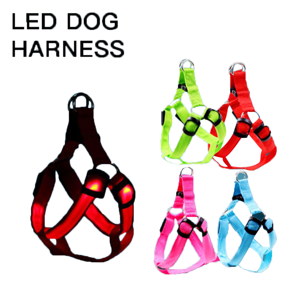 Wholesale Manufacturer Custom Adjustable Outdoor Nylon Bar Wire Wiring Flashing Light Rechargeable Led Pet Dog Cat Harness