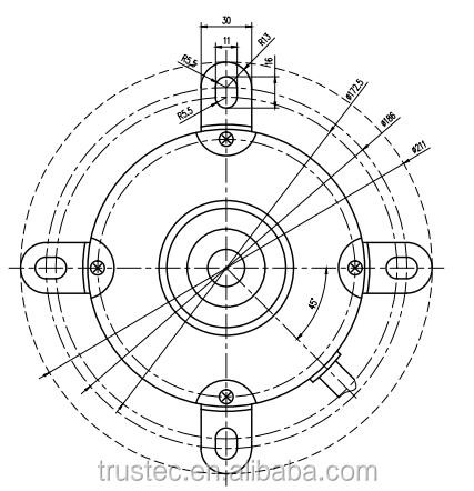 Ac Single Phase Three Speed General Purpose Outdoor Unit Fan Motors