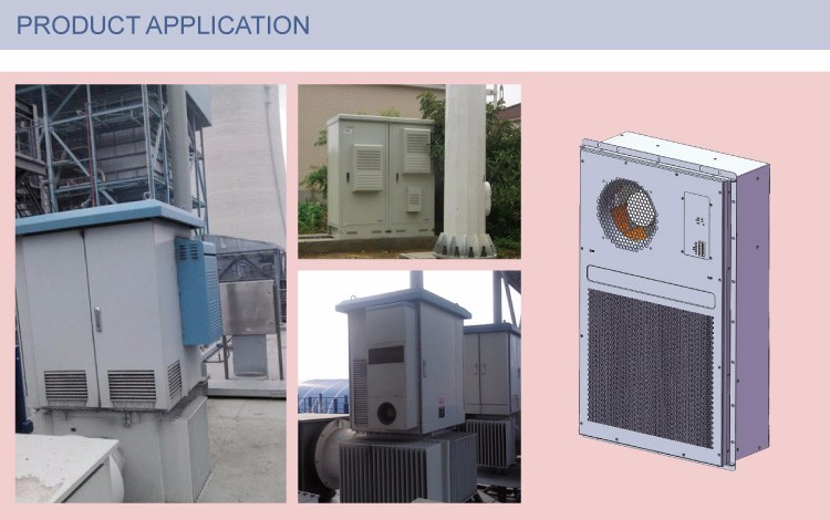 Customized Service Available 48VDC 150W/K Tube Heat Exchanger Outdoor Cabinet Cooling