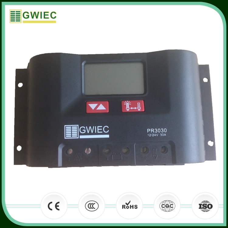 GWIEC Quality Products Pwm Lifepo4 Solar Charger Controller With Night Light Function