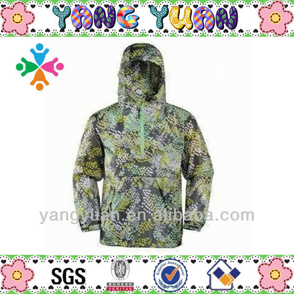 100% ball disposable shape aincoat customized rain jacket
