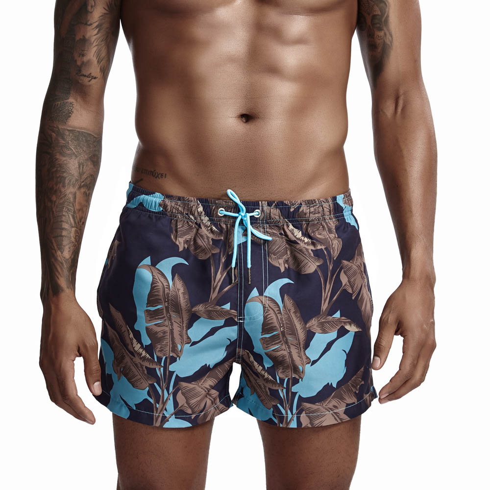 Wholesale Adult Swim Trunks Floral Beach Clothes Men <strong>Quick</strong> <strong>Dry</strong> Male <strong>Swimwear</strong> <strong>Beachwear</strong> Men's Polyester Shorts Playa Hombre
