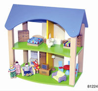 Plan Toys Wooden Dollhouse-The wooden role play toys