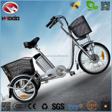 250w electric motor safe cargo tricycle for parents