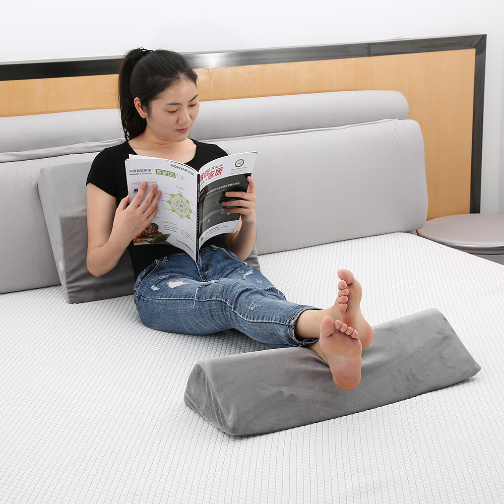 transformable multi function foam back support wedge pillow