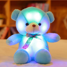 2018 Chinese factory wholesale low price electronic light up bear plush toy