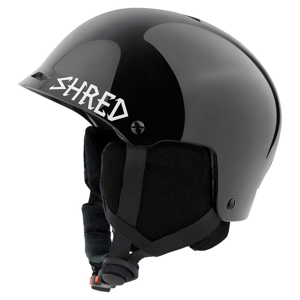 SHRED HALF BRAIN RENTAL HELMET, SNOW, BLACK, XS/M (52-56)