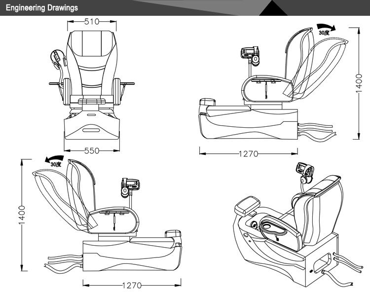 Spa tech pedicure chair&cheap pedicure spa chair&portable kids foot spa massage chair