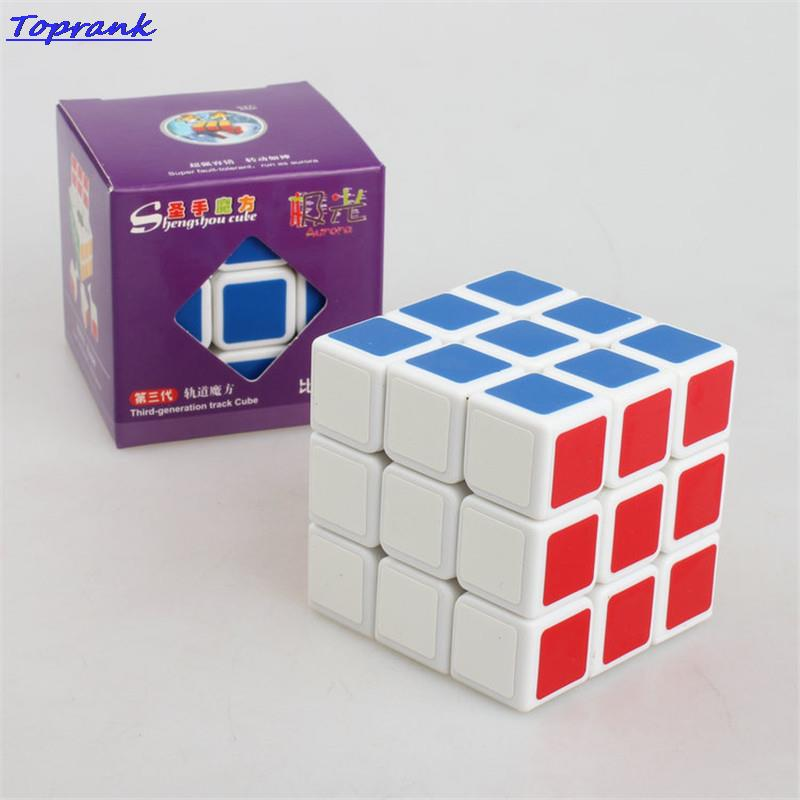 ShengShou aurora cubes Education toys 3X3X3 third order cube The international standard color puzzle cube 5
