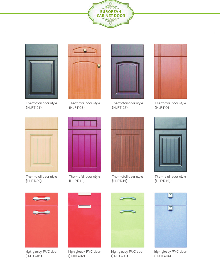 Pvc Kitchen Cabinet Doors: Cheap Price Pvc Mdf Kitchen Cabinet Doors