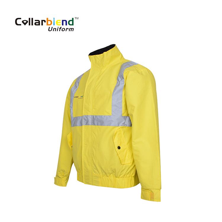 Hi-Vis Fleece Embroidered Jacket Security,Dog Handler,Custom  Front//Back S-5XL
