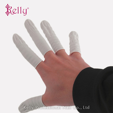 100 Pcs Finger Cots Disposable Latex Elastic Finger Gloves Professional Nail Art Rubber Fingertips Protective Gloves