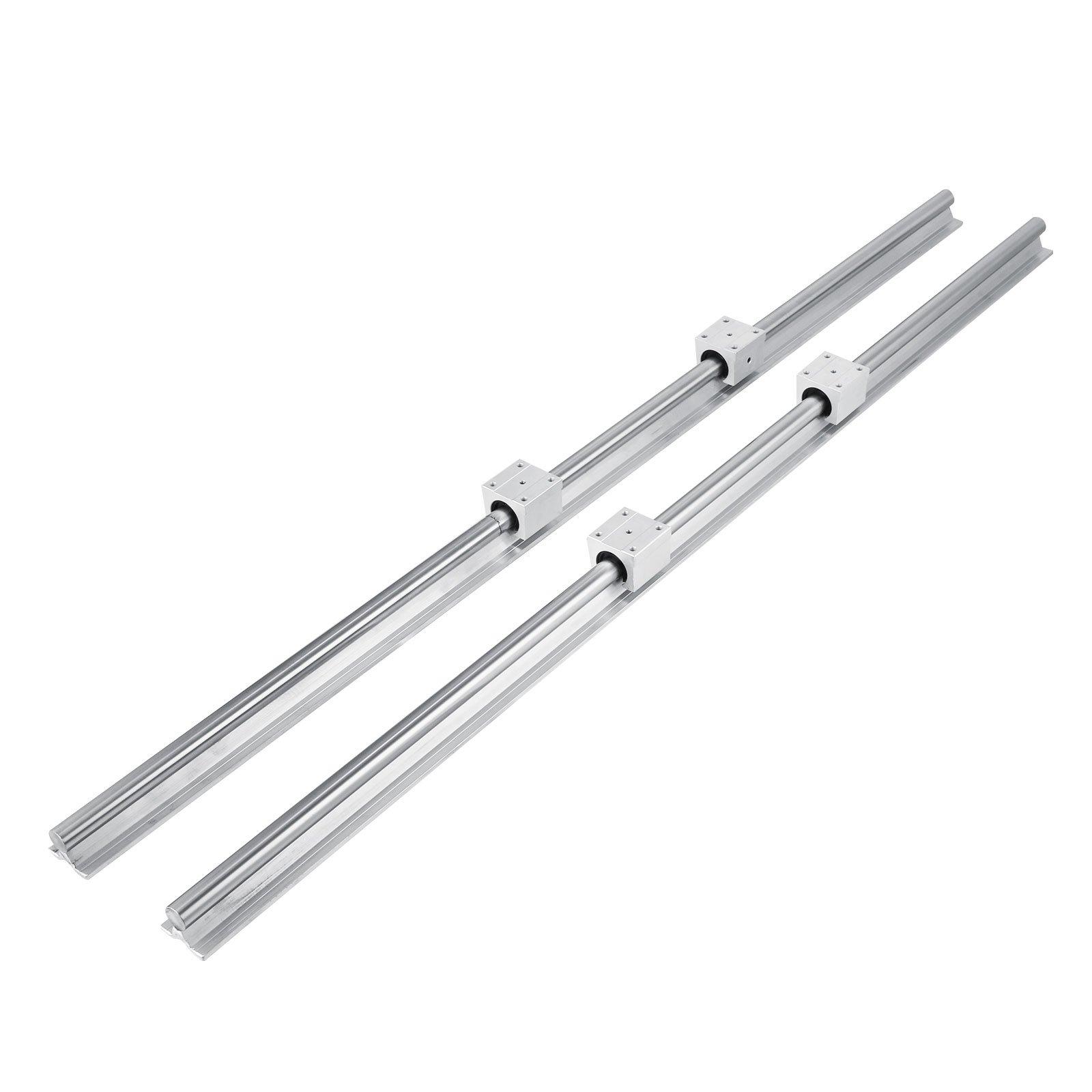 SBR16-2000mm 2 linear rail+ballscrew RM1605-2000mm+1 set BK//BF12 end bearing CNC