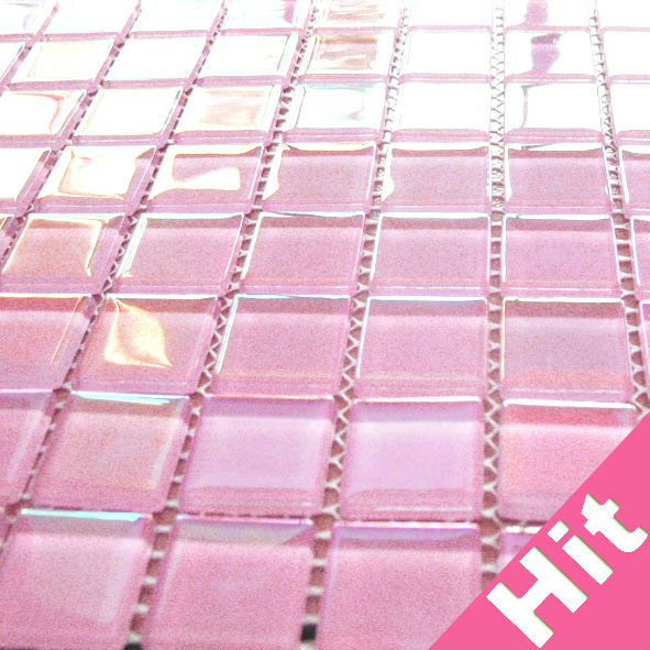 Iridescent Hot Pink Gl Mosaic Tiles Product On Alibaba