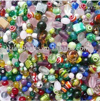 mixed lampwork glass art loose bullk beads stock for wholesale