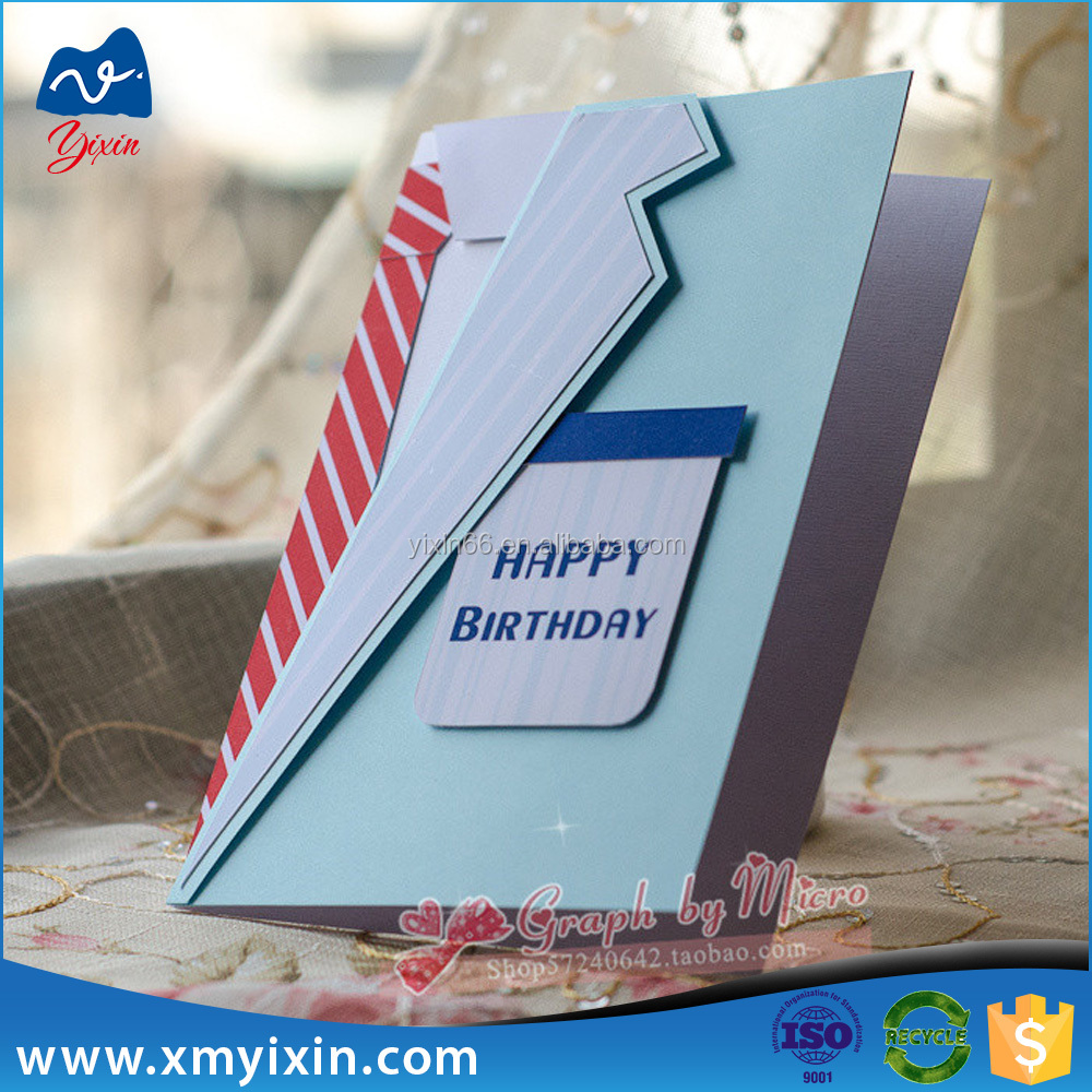 2015 new style popular handmade paper birthday greeting card