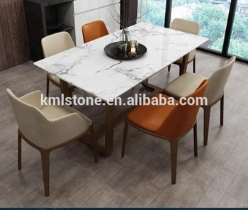 Hot sale modern square marble top dining table, View dining table, kml  Product Details from Xiamen Kaimingli Imp & Exp Co., Ltd. on Alibaba.com