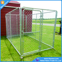 Large Outdoor Metal Stainless Steel Dog Cages With Plastic Pallet
