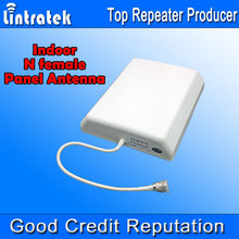 800-2500MHz Indoor Panel Antenna 8dbi N Female Cell Phone Booster Antenna for Mobile Phones Signal Boost