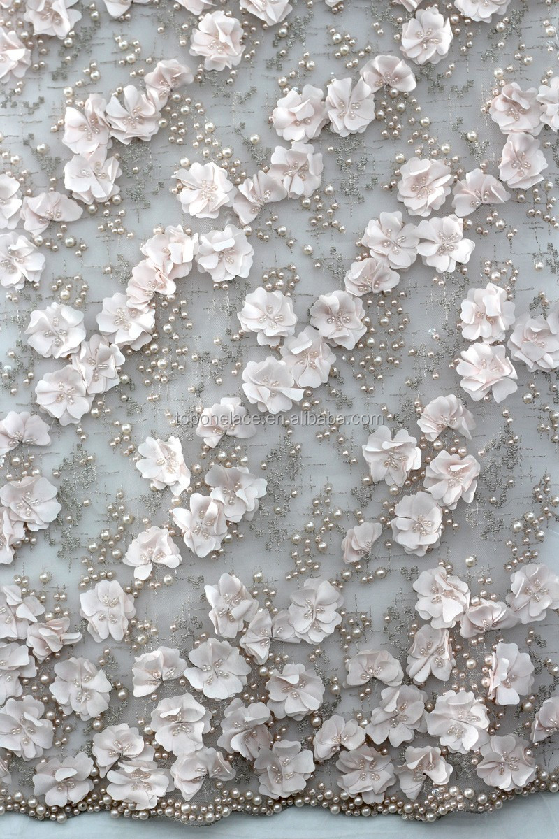 Bridal Lace Fabric Whole French Flower Embroidered