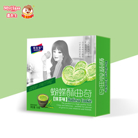 Suppliers matcha flavor cookie sweet and soft matcha flavor cookie biscuits wholesale cookie tins