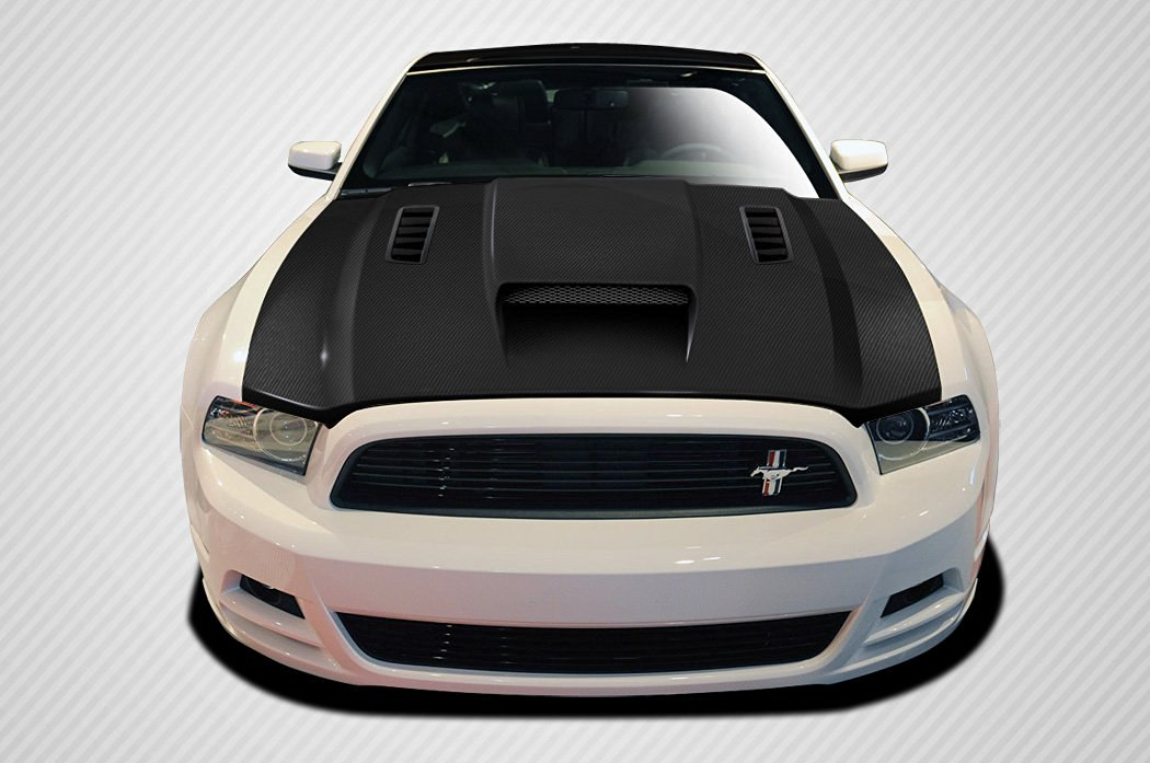 2013-2014 Ford Mustang / 2010-2014 Mustang GT500 Carbon Creations CV-X Hood - 1 Piece