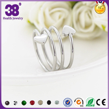 Popular screw rings, dor lover with heart silver magnet screw rings