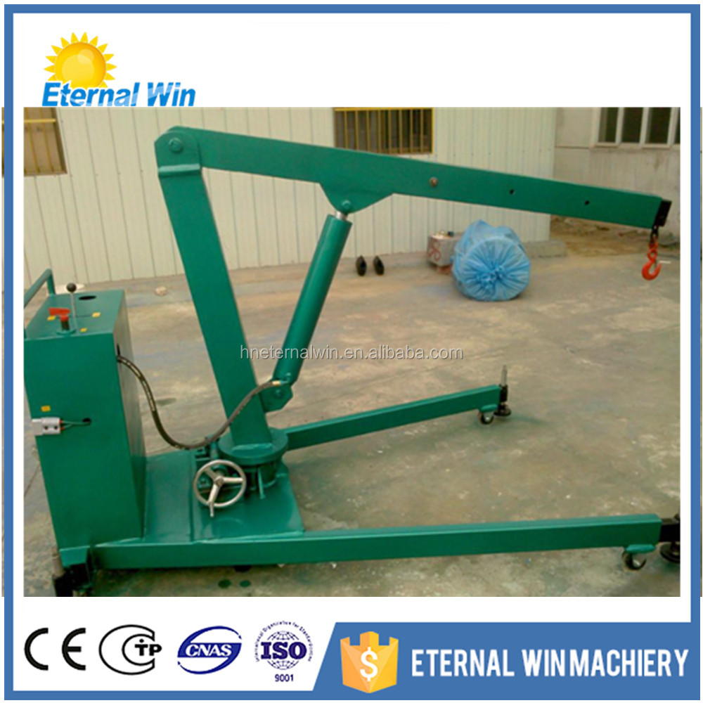 Selling manual mobile floor crane small hydraulic crane with CE&ISO