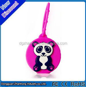 Silicone 3d carton animal shape original hanging car perfume