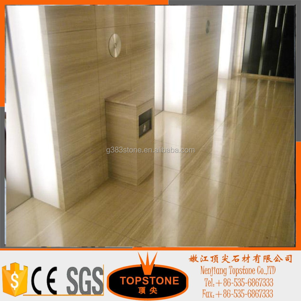 Chinese wooden marble blocks white wood marble natural stone