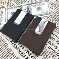 Durable product Rfid blocking aluminum credit card holder metal money clip with OEM