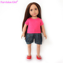 Hot 18 inch nude baby girl doll for children