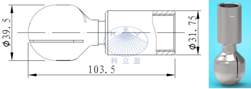 Max. tank diameter 3m , tank rotary jet head