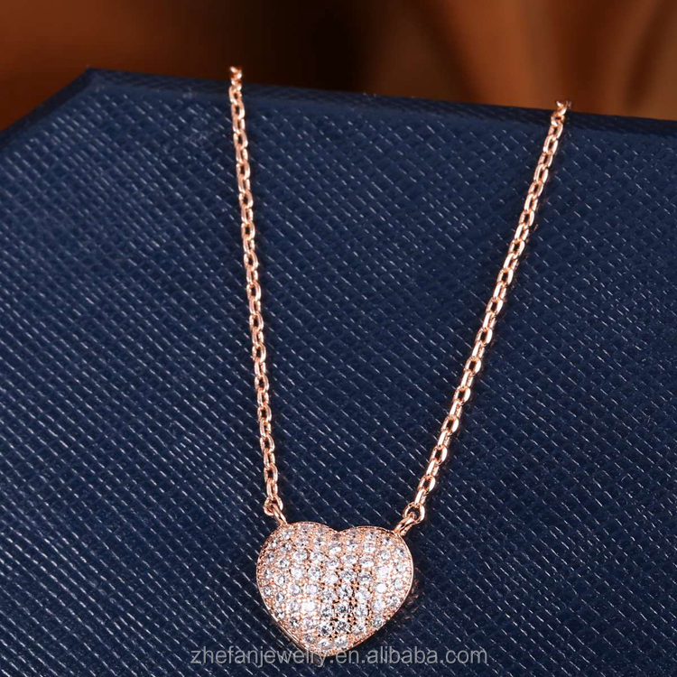 china product rose gold jewelry accessories heart shape pendent