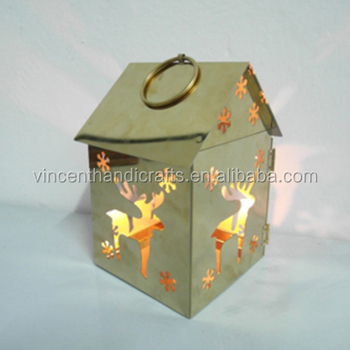 Christmas Cutout Patterns.House Shape Christmas Cutout Pattern Stainless Steel Candle Holder Steel Tealight Holder Buy Ornament Tealight Candle Holder Metal Tealight Candle