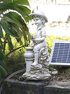 Garden Sun Light SL0604 Boy Pond Spitter Solar Pump Kit 5Watt Solar Panel